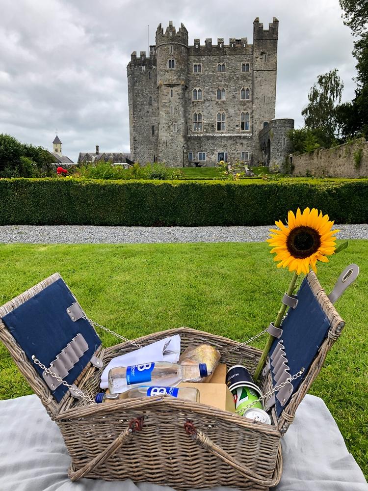 picnic at Kilkea Castle