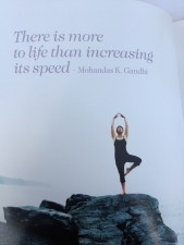 There is more to life than increasing it's speed - Gandhi