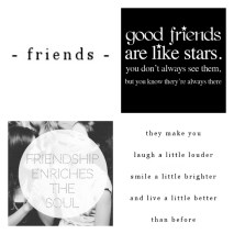 Good Friends are like stars...