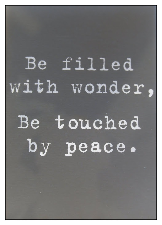 Be Filled with Wonder, .....