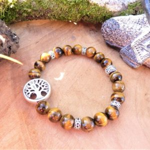 bracelet protection œil de tigre femme
