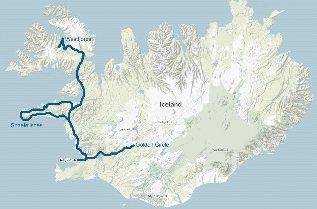 West Iceland Self Drive Tour - carpemundotravel on confederate arizona map, akureyri map, confederate states of america map, blue lagoon map, compromise of 1850 map,