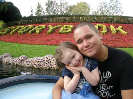 Disneyland with daddy!