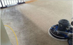 Carpet clean line with Low Moisture oscillating carpet cleaning machine