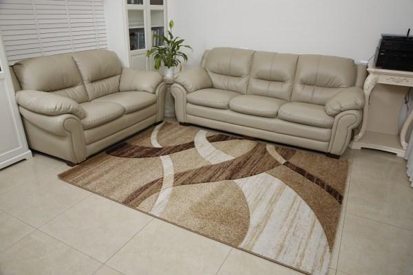 שטיח אומגה דגם גלים חום בג