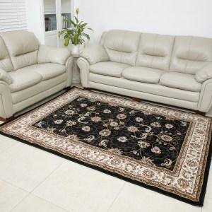 שטיח קלאסי דגם זיגלר שחור