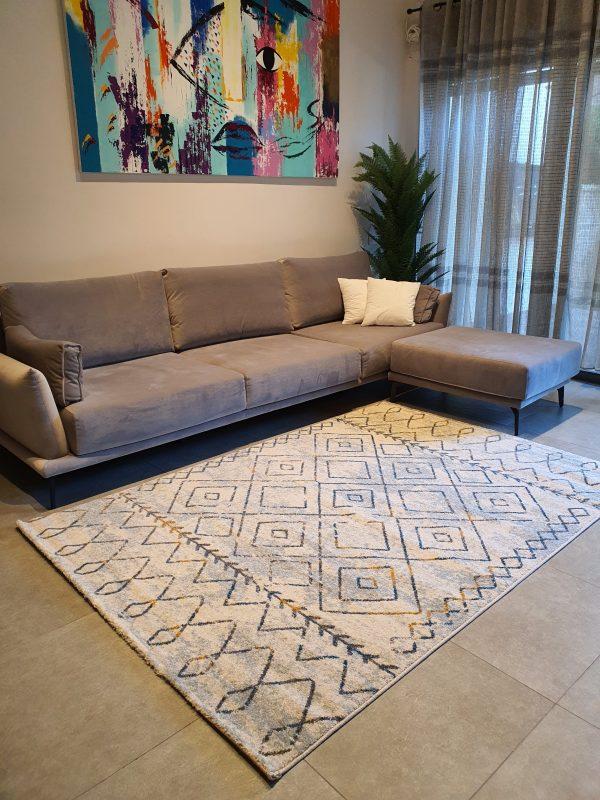 שטיח ברבר אפור לבן זבה 05