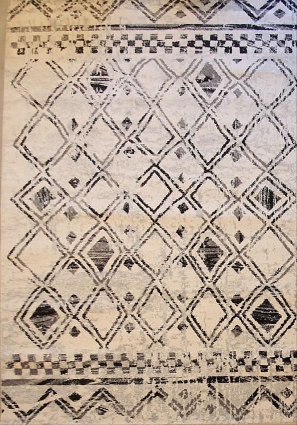 שטיח ברבר שחור לבן 06