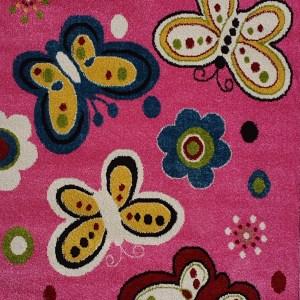 שטיח לחדרי ילדים פרפרים אפור (2)