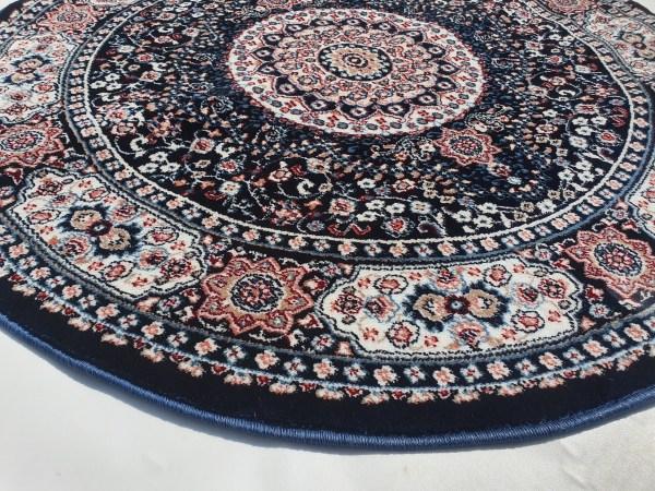 שטיח קלאסי עגול צבע כחול (3)