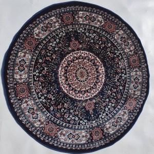 שטיח קלאסי עגול צבע כחול