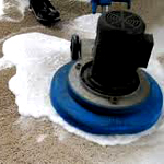 dry foam carpet cleaning method