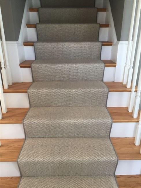 Herringbone It S What S In Right Now Carpet Workroom   Grey Herringbone Carpet Stairs   Living Room   Flat Weave   Hartley   Patterned   Modern