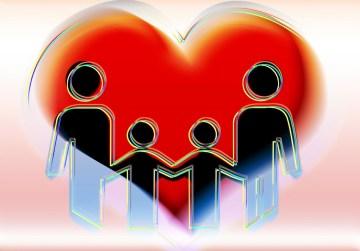 Happy Family Heart