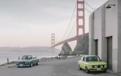 BMW 70s icons at one of the most Iconic places in San Francisco: Bengt and Alex' sheer driving pleasure.