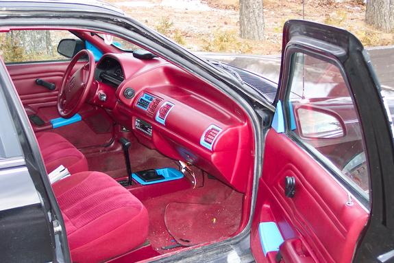 Interior Shot Of The Front With Paint Steering