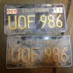 1967 Porsche 911S Targa California License Plates