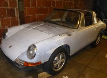 1967 Porsche 911T Soft Window Targa Silver Metallic