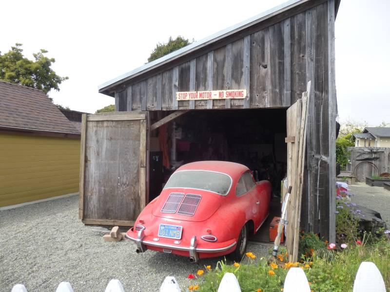 1963 porsche 356b super coupe red barn find