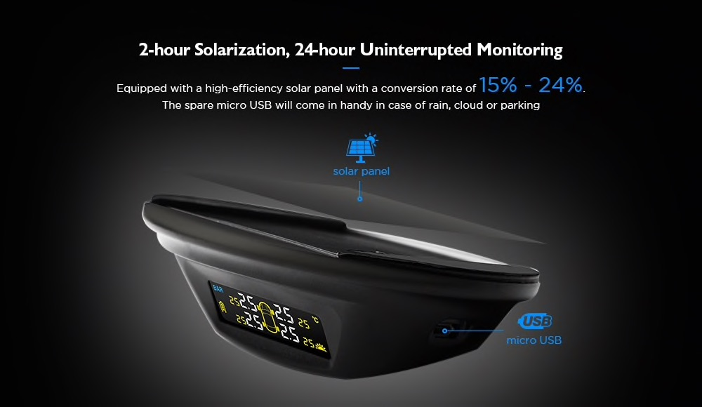 Gocomma M20 Solar Energy Tire Pressure Monitor Review