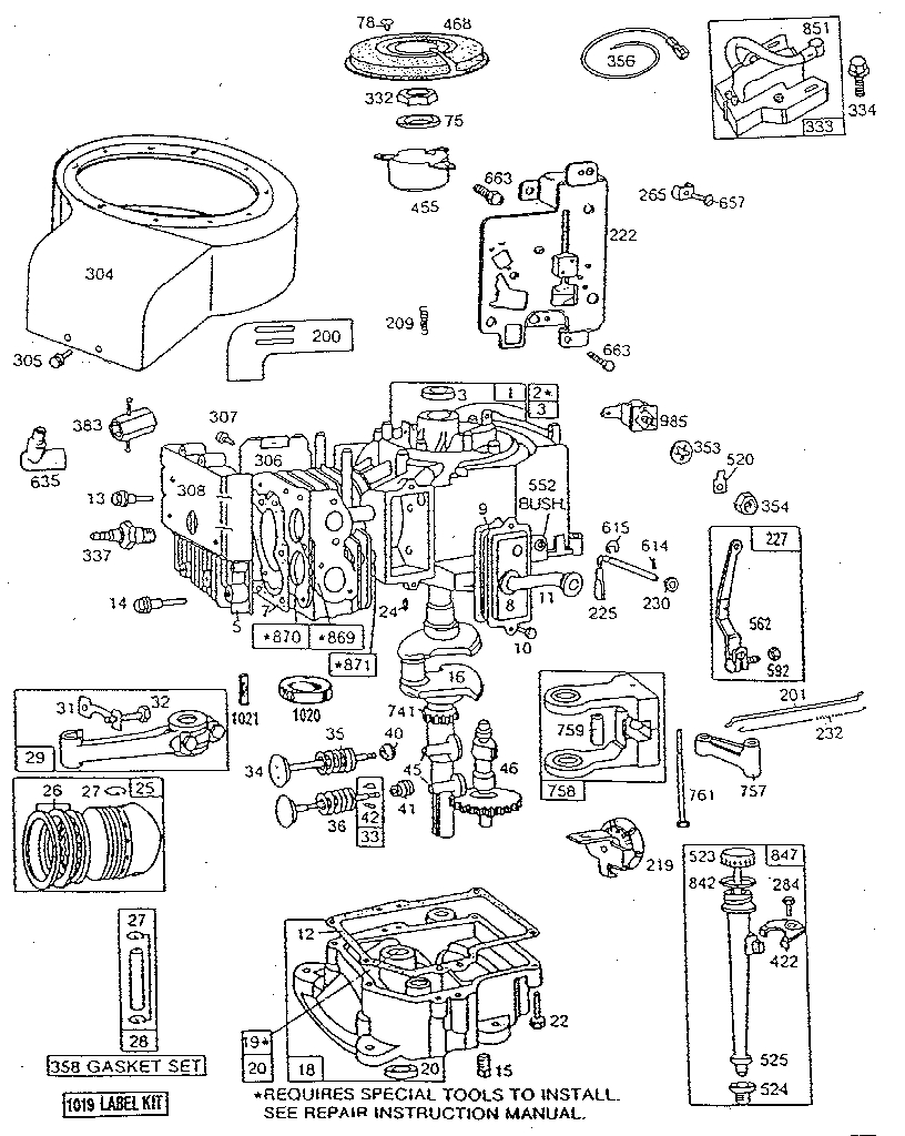 Inspiring briggs and stratton 500 series parts diagram ideas