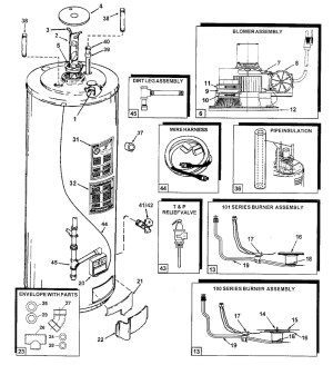 Electric Hot Water Heater Parts Diagram | Automotive Parts