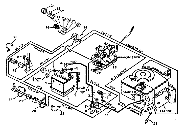craftsman riding lawn mower solenoid gallery diagram  Riding Lawn Mower Starter Release After Engine Starts