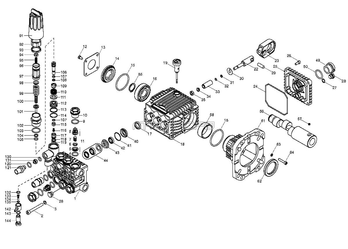 Honda Pressure Washer Pump Parts Diagram