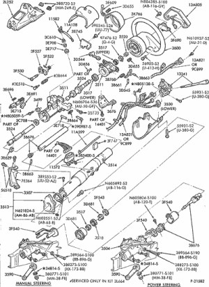 Exploded View For The 1994 Ford Ranger Tilt | Steering Column Services in 1994 Ford Ranger Parts