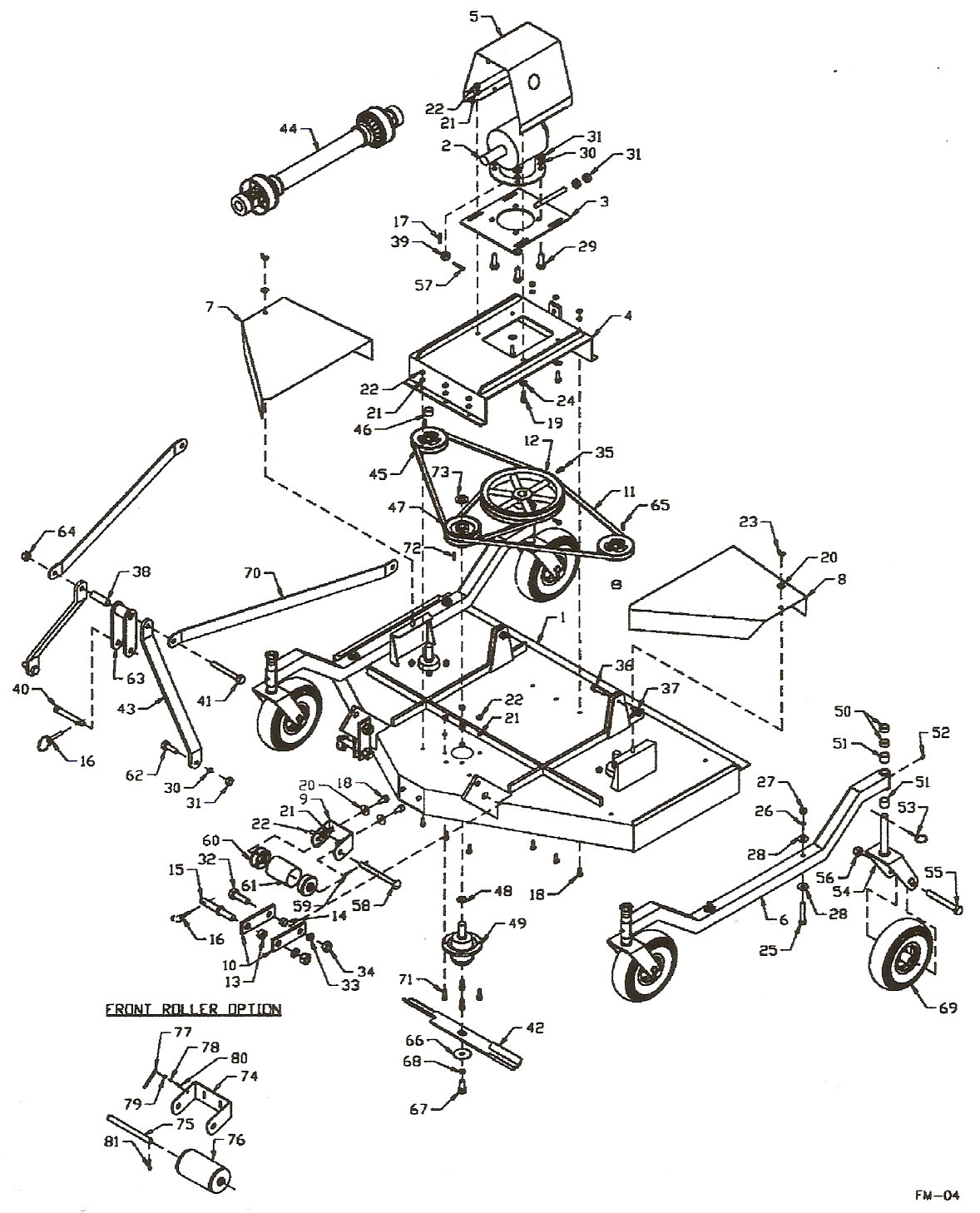 King Kutter Finish Mower Parts Diagram