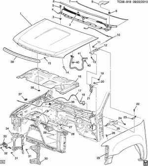 Gm 20763454 Hood Latch & Switchsensor 20072014 Silverado