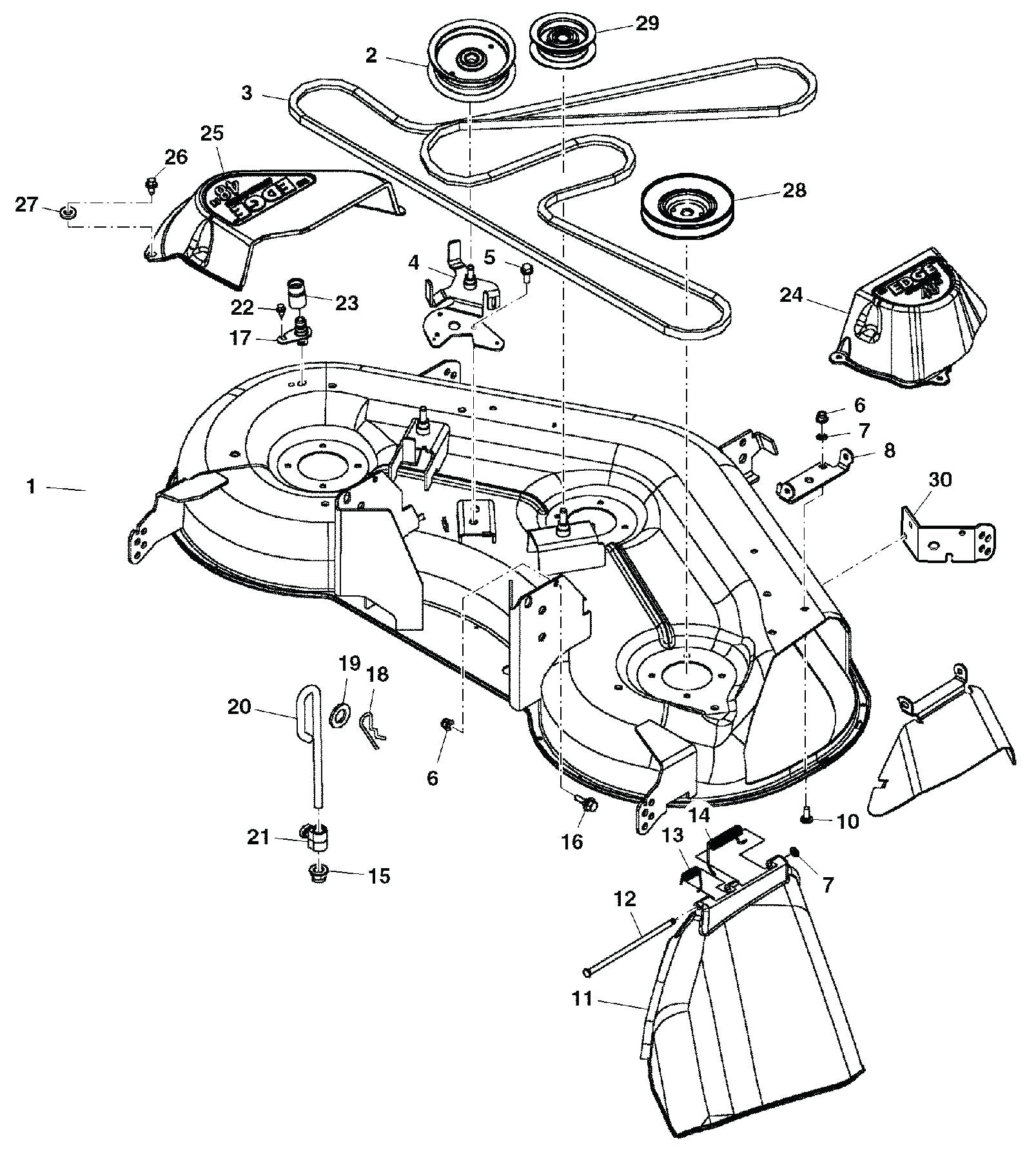 John Deere Sabre Mower Belt Diagram