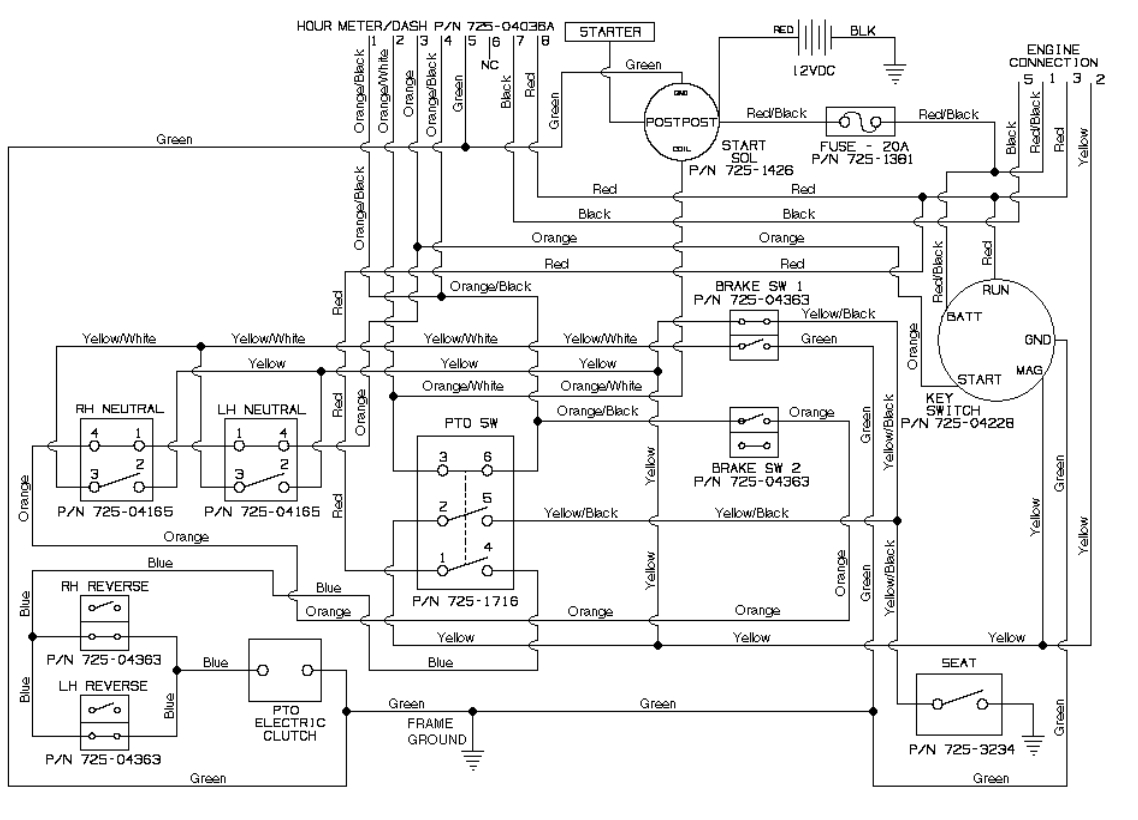 Cub Cadet Wire Diagram For