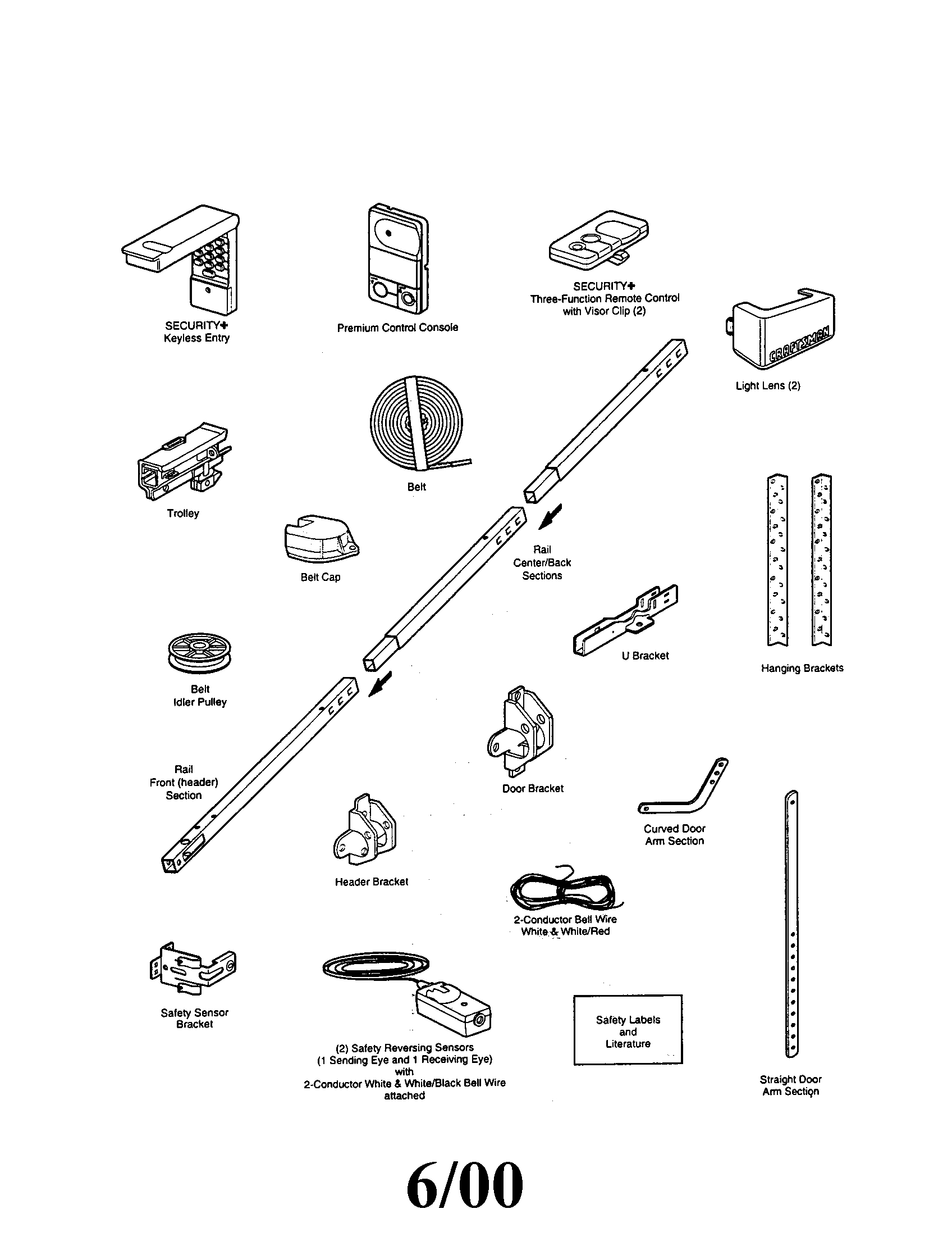 Genie Garage Door Opener Parts Diagram