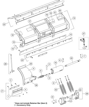 Western Snow Plow Parts Diagram | Automotive Parts Diagram