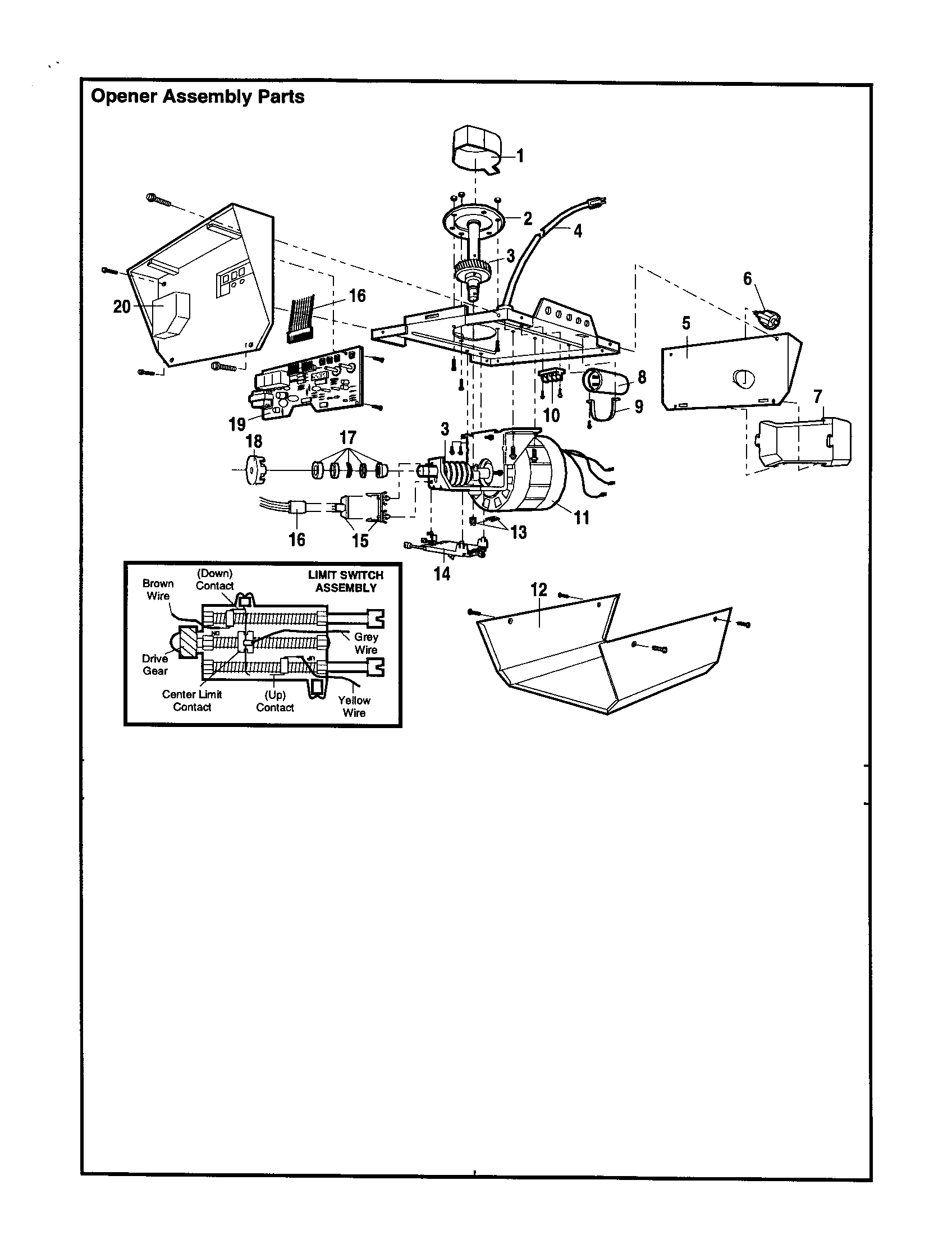 Craftsman Garage Door Opener Parts Diagram