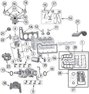 2002 Jeep Liberty Engine Diagram | Automotive Parts