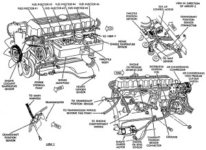 1996 Jeep Grand Cherokee Engine Diagram | Automotive Parts