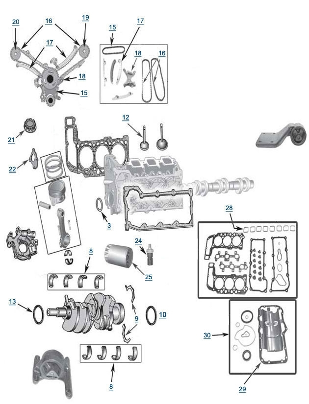 2006 Jeep Liberty Engine Diagram