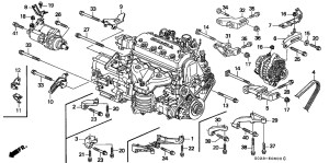 1996 Honda Civic Engine Diagram | Automotive Parts Diagram