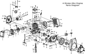 49Cc Engine Parts | BicycleEngines pertaining to 2 Cycle Engine Carburetor Diagram | Automotive