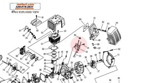 49Cc Pocket Bike Engine Diagram | Automotive Parts Diagram
