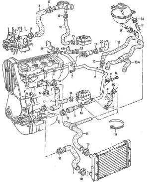 Vw 18 T Engine Diagram | Automotive Parts Diagram Images