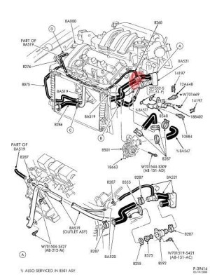 2004 Ford Taurus Engine Diagram | Automotive Parts Diagram Images