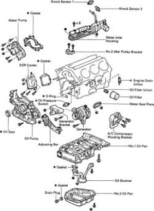 1997 Toyota Camry Engine Diagram | Automotive Parts