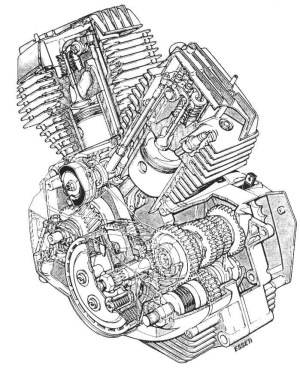 Harley Davidson V Twin Engine Diagram | Automotive Parts