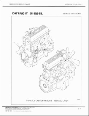 Detroit 60 Series Engine Diagram | Automotive Parts