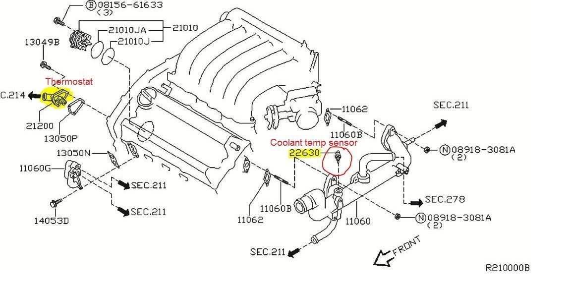98 Nissan Altima Engine Diagram Thermostat