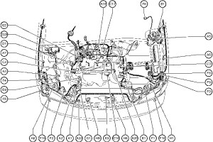 Position Of Parts In Engine Compartment  Toyota Sienna