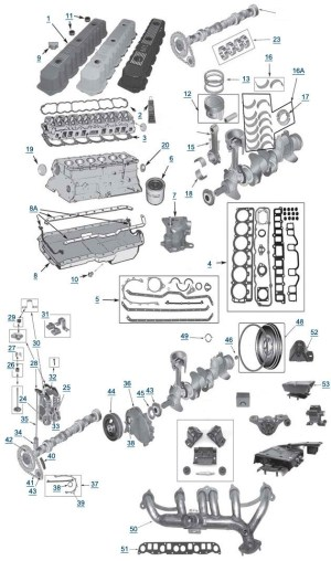 2000 Jeep Grand Cherokee Engine Diagram | Automotive Parts